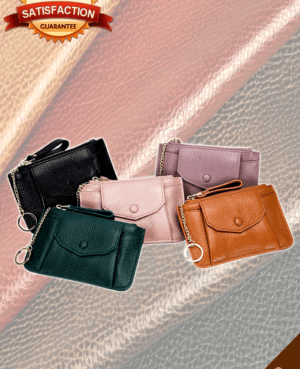 Leather Coin Holder & Pouch